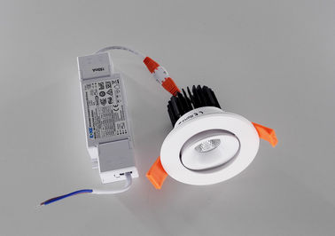 China Innen-8W Aluminium LED vertiefte Downlight mit DALI, der für Wohn-/Hotels sich verdunkelt fournisseur